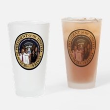 Obama First Family T SHirt Drinking Glass