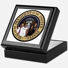 Obama First Family T SHirt Keepsake Box