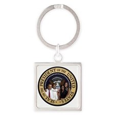 Obama First Family T SHirt Square Keychain