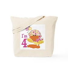 Duckie Girl 4th Birthday Tote Bag