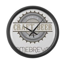 Home Brewer Large Wall Clock