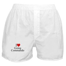 """I Love (Heart) Going Commando"" Boxer Shorts"