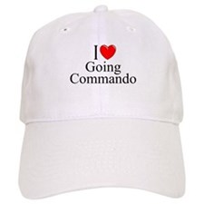 """I Love (Heart) Going Commando"" Baseball Cap"