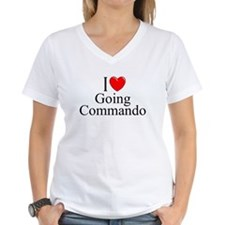 """I Love (Heart) Going Commando"" Shirt"