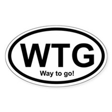 WTG Way to Go! Oval Decal