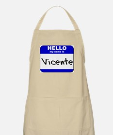 hello my name is vicente  BBQ Apron