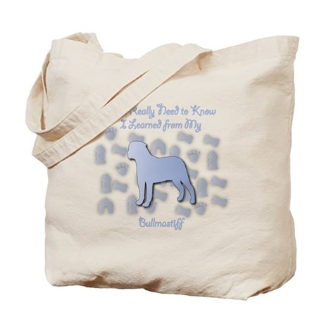 Learned Bullmastiff Tote Bag