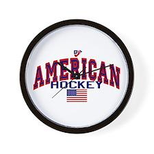 US American Hockey Wall Clock