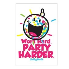 Party Hard Smiley Postcards (Package of 8)