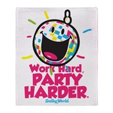 Party Hard Smiley Throw Blanket