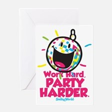 Party Hard Smiley Greeting Card