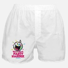 Party Hard Smiley Boxer Shorts