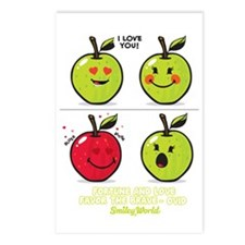 Apple Smiley Postcards (Package of 8)