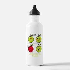 Apple Smiley Water Bottle