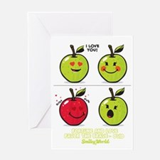 Apple Smiley Greeting Card