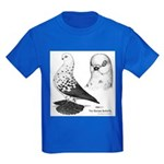 Warsaw Butterfly Pigeon Kids Dark T-Shirt