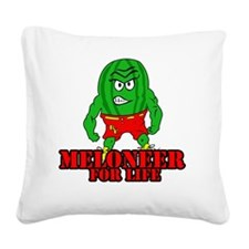 Meloneer 4 Life - Mascot Square Canvas Pillow