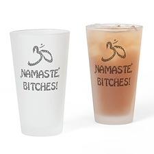 Sparkly Namaste Bitches Drinking Glass
