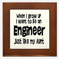 WIGU Engineer Aunt Framed Tile