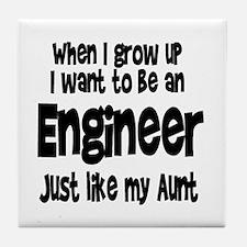 WIGU Engineer Aunt Tile Coaster