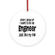 WIGU Engineer Dad Ornament (Round)
