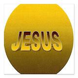 Jesus magnets Square Car Magnets