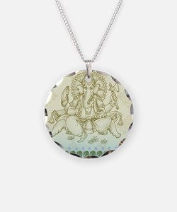 Ganesha Dip Dye Necklace