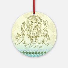 Ganesha Dip Dye Round Ornament