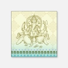 "Ganesha Dip Dye Square Sticker 3"" x 3"""