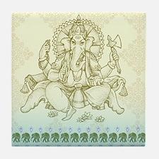 Ganesha Dip Dye Tile Coaster