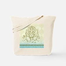Ganesha Dip Dye Tote Bag
