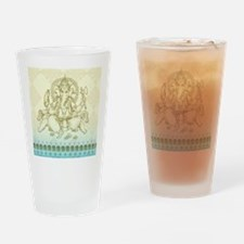 Ganesha Dip Dye Drinking Glass
