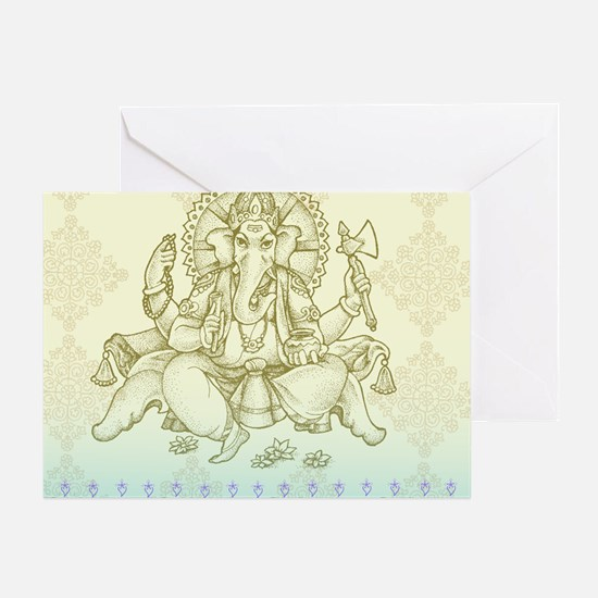 Ganesha Dip Dye Greeting Card