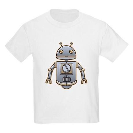 Little Retro Robot Kids Light T-Shirt