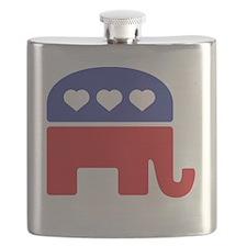 Republican Hearts Flask