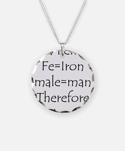 FemaIe Ironman Necklace