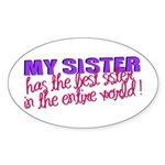 Best Sister in the World Oval Sticker
