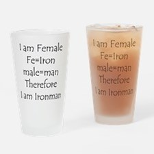 FemaIe Ironman Drinking Glass