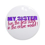 Best Sister in the World Ornament (Round)