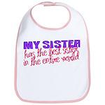 Best Sister in the World Bib