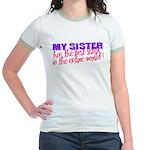 Best Sister in the World Jr. Ringer T-Shirt