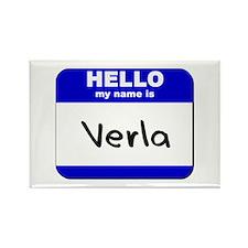 hello my name is verla Rectangle Magnet