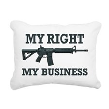 My Right, My Business Rectangular Canvas Pillow