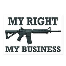 My Right, My Business Postcards (Package of 8)