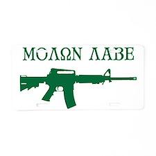 MOLON LABE - Come and Take  Aluminum License Plate