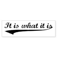IT IS WHAT IT IS #2 Bumper Car Sticker