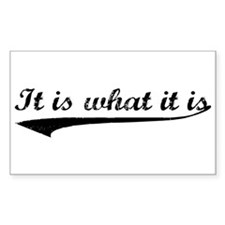 IT IS WHAT IT IS #2 Rectangle Decal