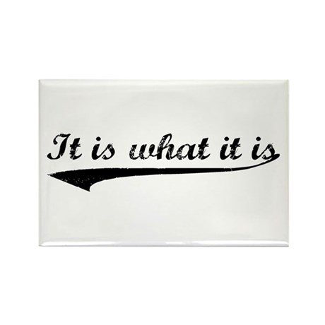 IT IS WHAT IT IS #2 Rectangle Magnet (10 pack)