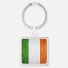 Irish Flag Square Keychain