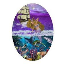 Best Seller Merrow Mermaid Oval Ornament